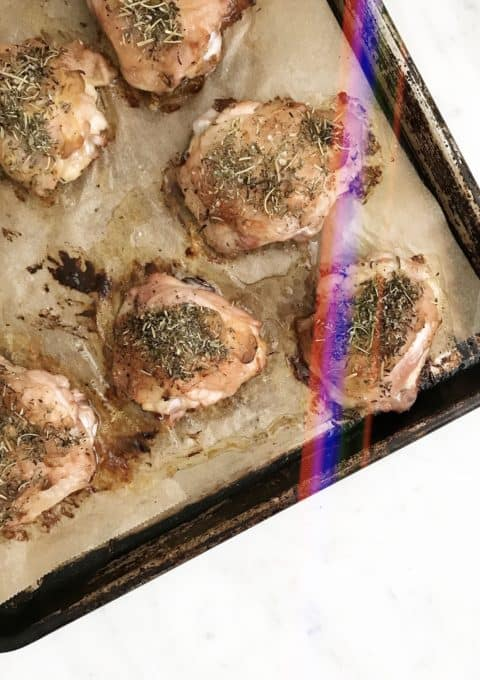 Herbs de Provence Roasted Chicken Thighs - Chef Whitney Aronoff   Starseed Kitchen