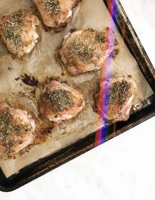 Mustard & Herbs de Provence Chicken Thighs