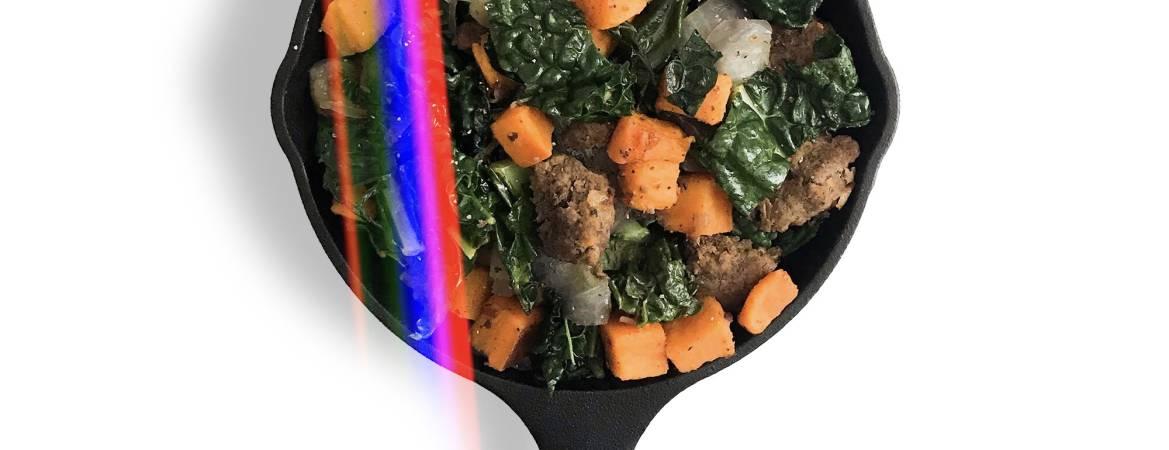 Bison Sausage & Sweet Potato Hash - Chef Whitney Aronoff   Starseed Kitchen