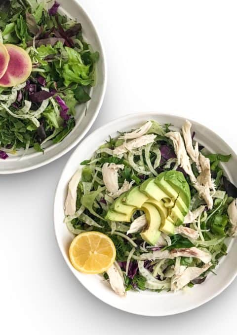 Spring Meal Prep Salad with fennel and mixed greens - Chef Whitney Aronoff | Starseed Kitchen
