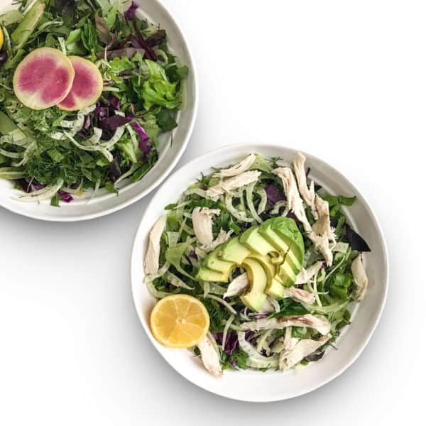 Spring Meal Prep Salad with fennel and mixed greens - Chef Whitney Aronoff   Starseed Kitchen