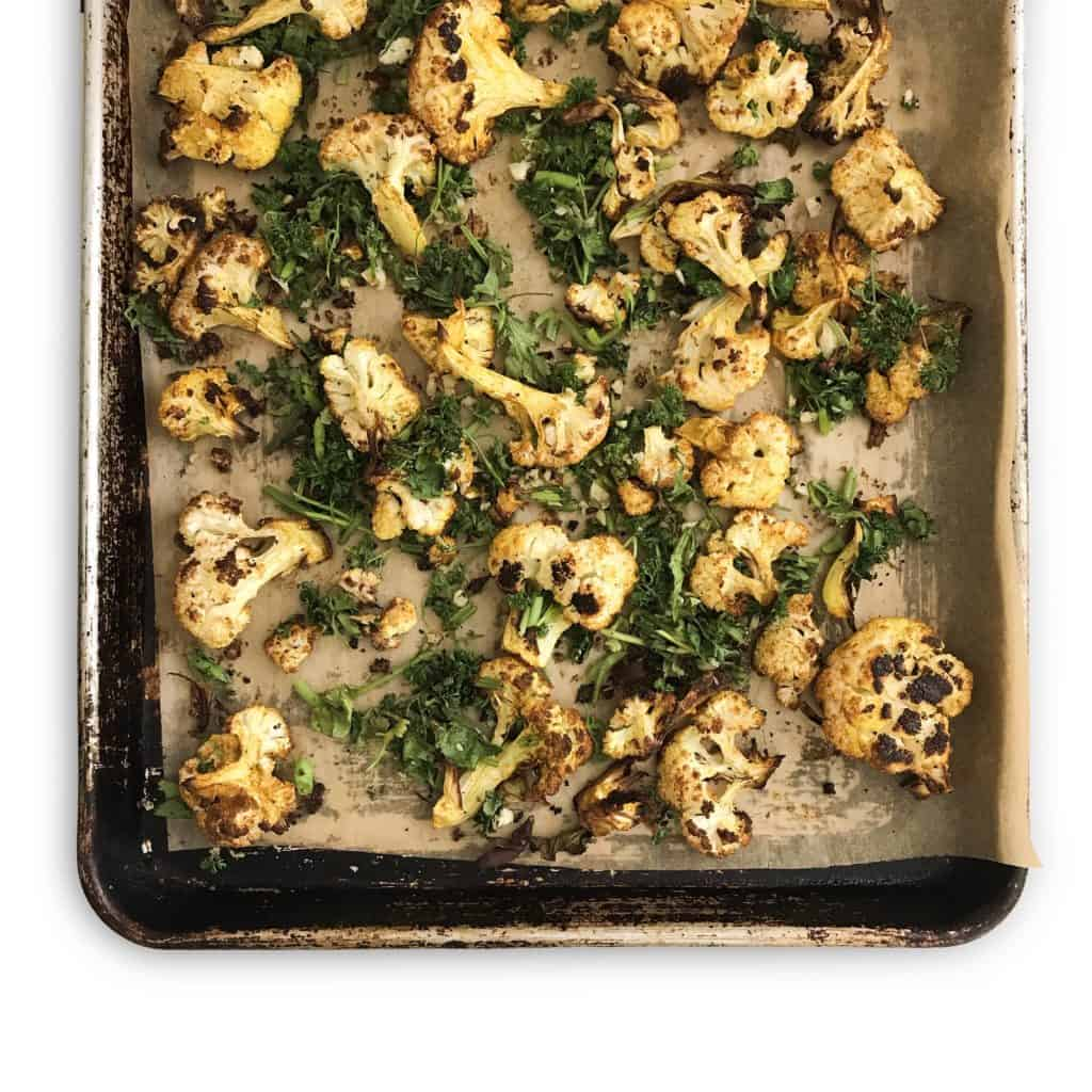 Roasted Curry Cauliflower Salad - Chef Whitney Aronoff | Starseed Kitchen