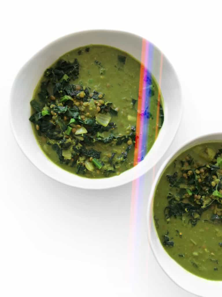 Green Curry Lentils With Kale & Coconut Milk - Chef Whitney Aronoff | Starseed Kitchen