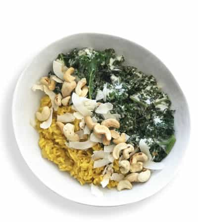 Coconut Kale Bowl with Anti-Inflammatory Turmeric Rice - Chef Whitney Aronoff | Starseed Kitchen
