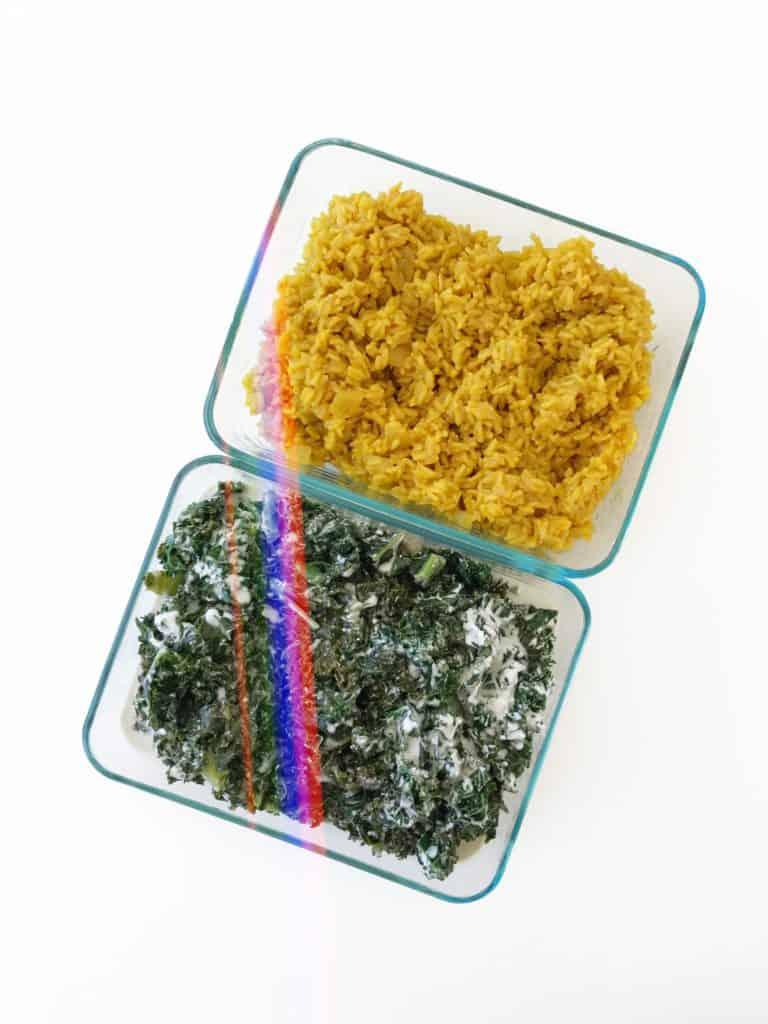 Coconut Kale Bowl with Anti-Inflammatory Turmeric Rice - Chef Whitney Aronoff | Starseed Kitchen