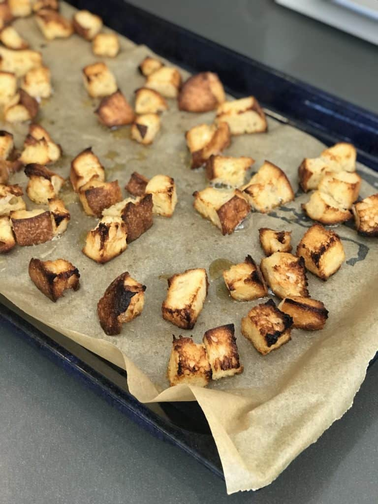 Homemade Sourdough Croutons - Chef Whitney Aronoff | Starseed Kitchen