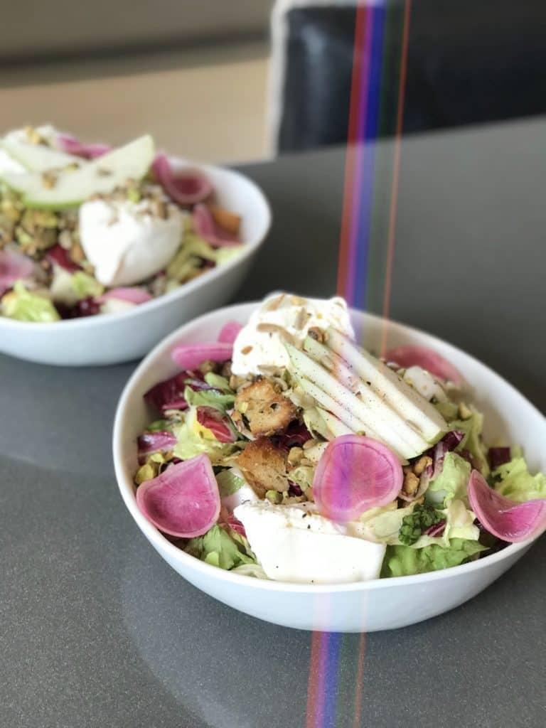 Pear Panzanella Salad with Pistachios & Burrata - Chef Whitney Aronoff | Starseed Kitchen
