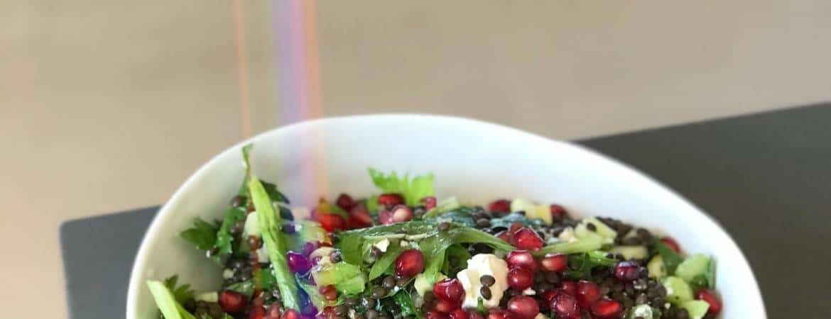 Black Lentil & Pomegranate Salad - Chef Whitney Aronoff | Starseed Kitchen