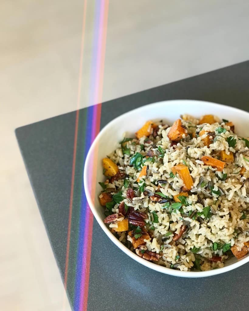 Wild Rice Pilaf with Roasted Butternut Squash - Chef Whitney Aronoff | Starseed Kitchen