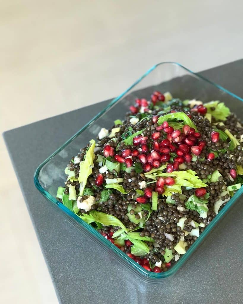 Black Lentil & Pomegranate Salad - Chef Whitney Aronoff   Starseed Kitchen