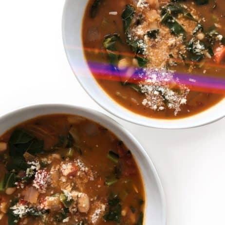 Smoky White Bean & Collard Greens Soup - Chef Whitney Aronoff | Starseed Kitchen