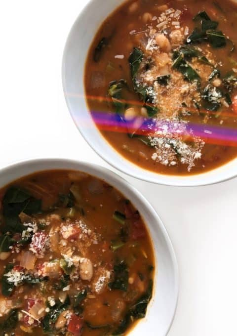 Smoky White Bean & Collard Greens Soup - Chef Whitney Aronoff | Starseed Kitchen
