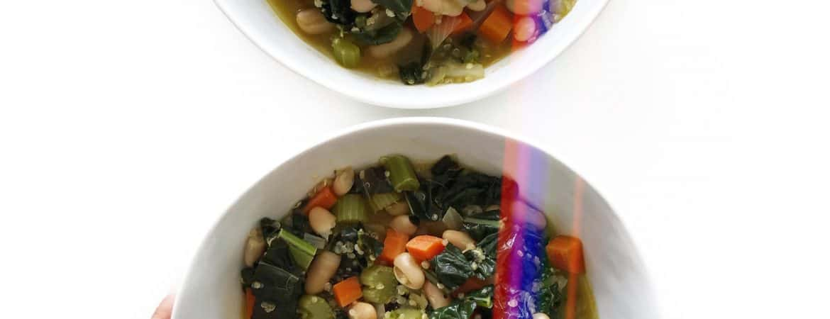 Earthy Vegetarian White Bean Chili - Chef Whitney Aronoff | Starseed Kitchen