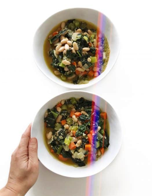 Earthy Vegetarian White Bean Chili - Chef Whitney Aronoff | Starseed Kitchen