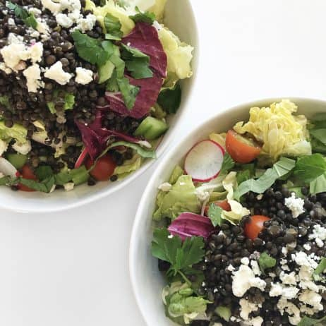 Butter Lettuce Salad with Black Lentils & Smoky Blue Cheese Dressing - Chef Whitney Aronoff   Starseed Kitchen