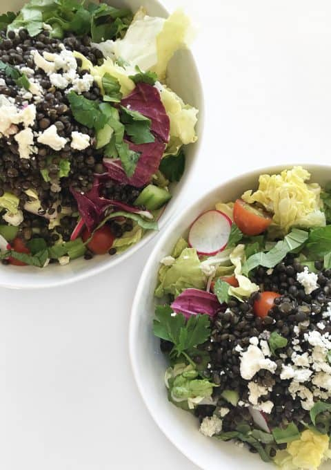 Butter Lettuce Salad with Black Lentils & Smoky Blue Cheese Dressing - Chef Whitney Aronoff | Starseed Kitchen
