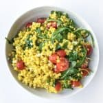 Pearl Couscous Salad with Turmeric - Chef Whitney Aronoff | Starseed Kitchen
