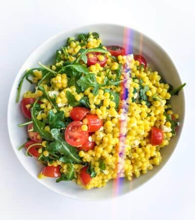 Israeli Couscous Salad with Arugula - Chef Whitney Aronoff | Starseed Kitchen