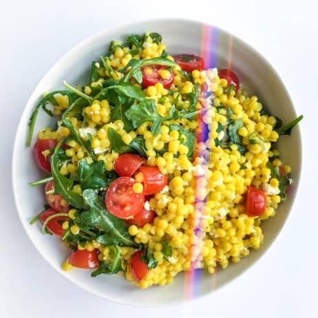 Israeli Couscous Salad with Arugula - Chef Whitney Aronoff | Starseed Kitchen