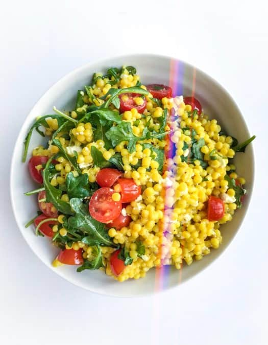 Israeli Couscous Salad with Arugula - Chef Whitney Aronoff   Starseed Kitchen