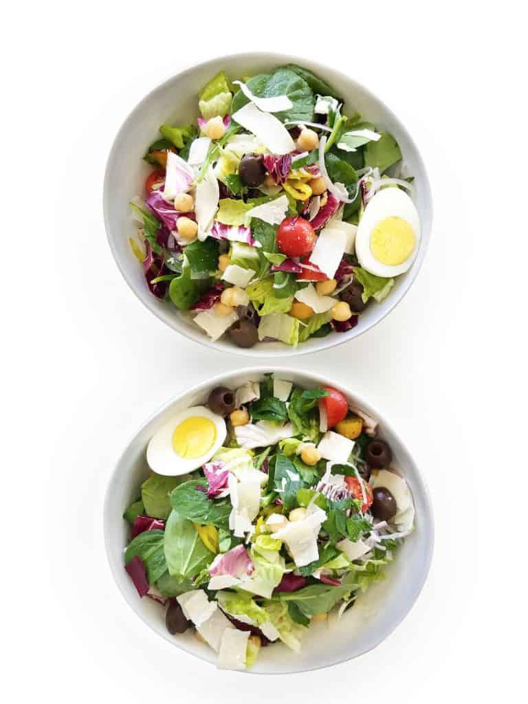 Big Italian Green Salad for Meal Prep - Chef Whitney Aronoff   Starseed Kitchen