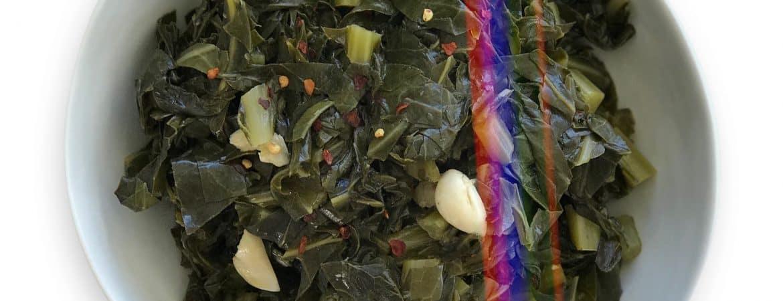Vegetarian Collard Greens - Chef Whitney Aronoff | Starseed Kitchen