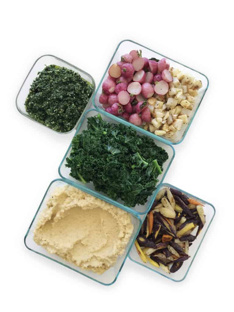 Superfood Kale Basil Pesto & Creamy Coconut Millet with Roasted Vegetables - Chef Whitney Aronoff