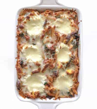 Baked Pasta with Zucchini and Mozzarella - Chef Whitney Aronoff | Starseed Kitchen