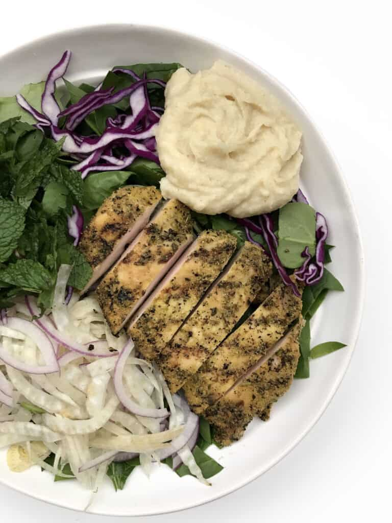 Shredded Fennel Salad with Grilled Chicken - Chef Whitney Aronoff | Starseed Kitchen