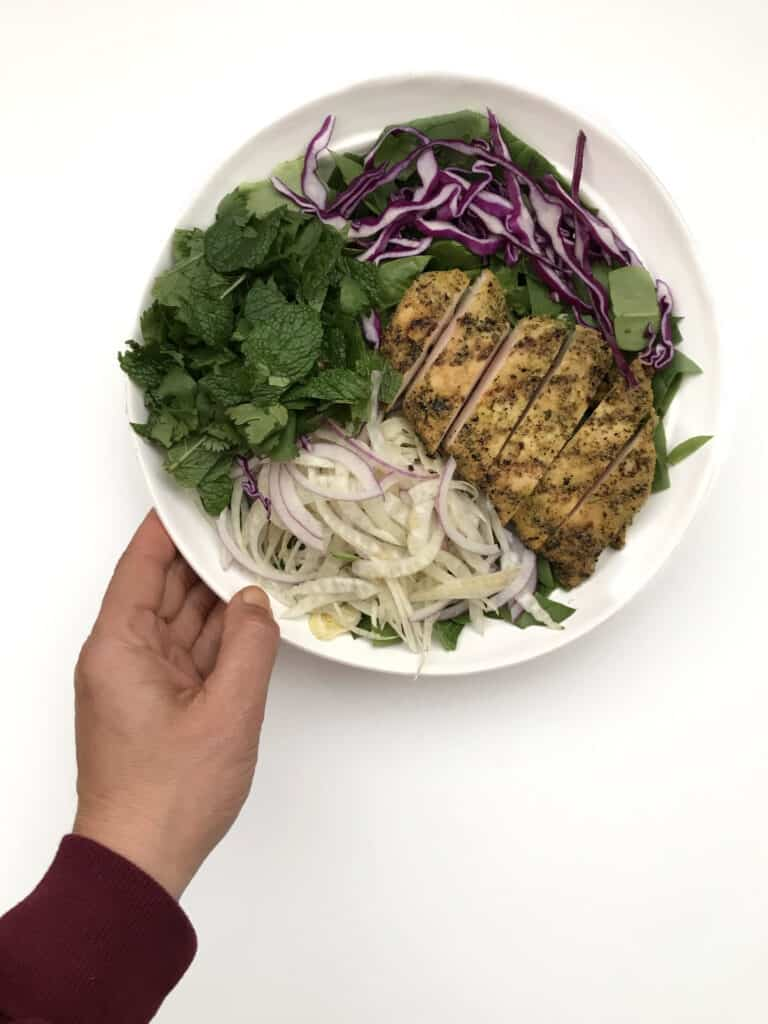 Shredded Fennel Salad with Adobo Grilled Chicken - Chef Whitney Aronoff | Starseed Kitchen