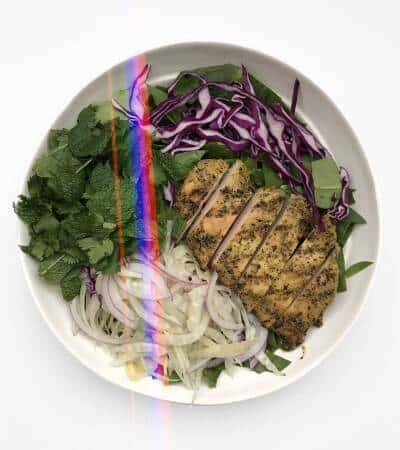 Shaved Fennel Salad with Grilled Chicken - Chef Whitney Aronoff | Starseed Kitchen