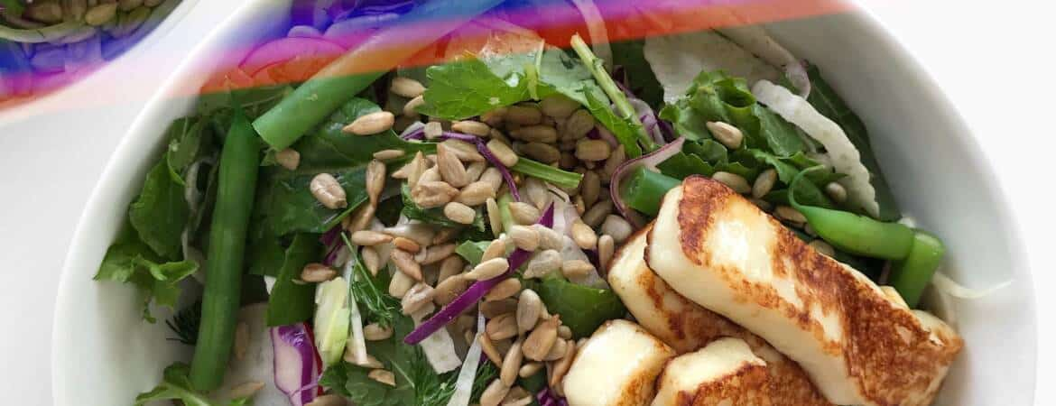 Lemony Fennel Salad with Fried Halloumi Cheese - Chef Whitney Aronoff | Starseed Kitchen