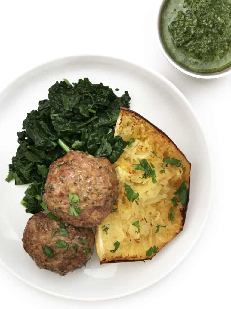 Lamb Meatballs Recipe with Quick Pesto - Chef Whitney Aronoff | Starseed Kitchen