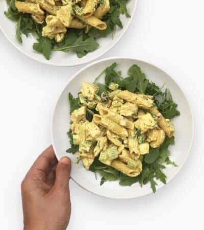 Healthy Recipe for Curry Chicken Pasta Salad - Chef Whitney Aronoff | Starseed Kitchen