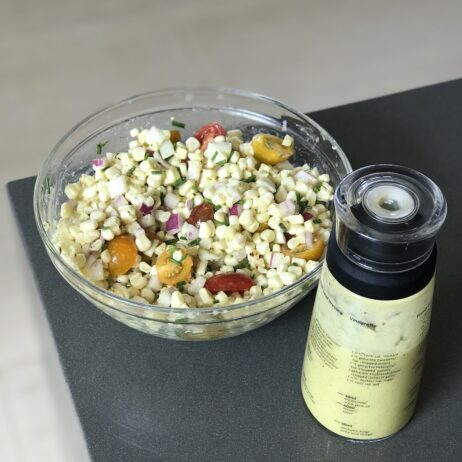 Recipe for Tarragon Vinaigrette with Heirloom Tomato & Corn Salad