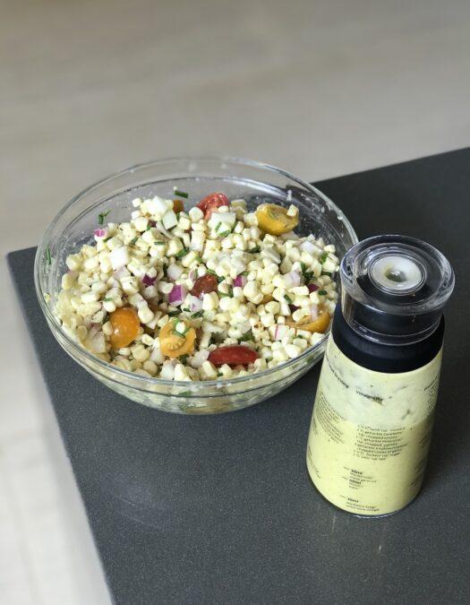 Recipe for Tarragon Vinaigrette with Heirloom Tomato & Corn Salad
