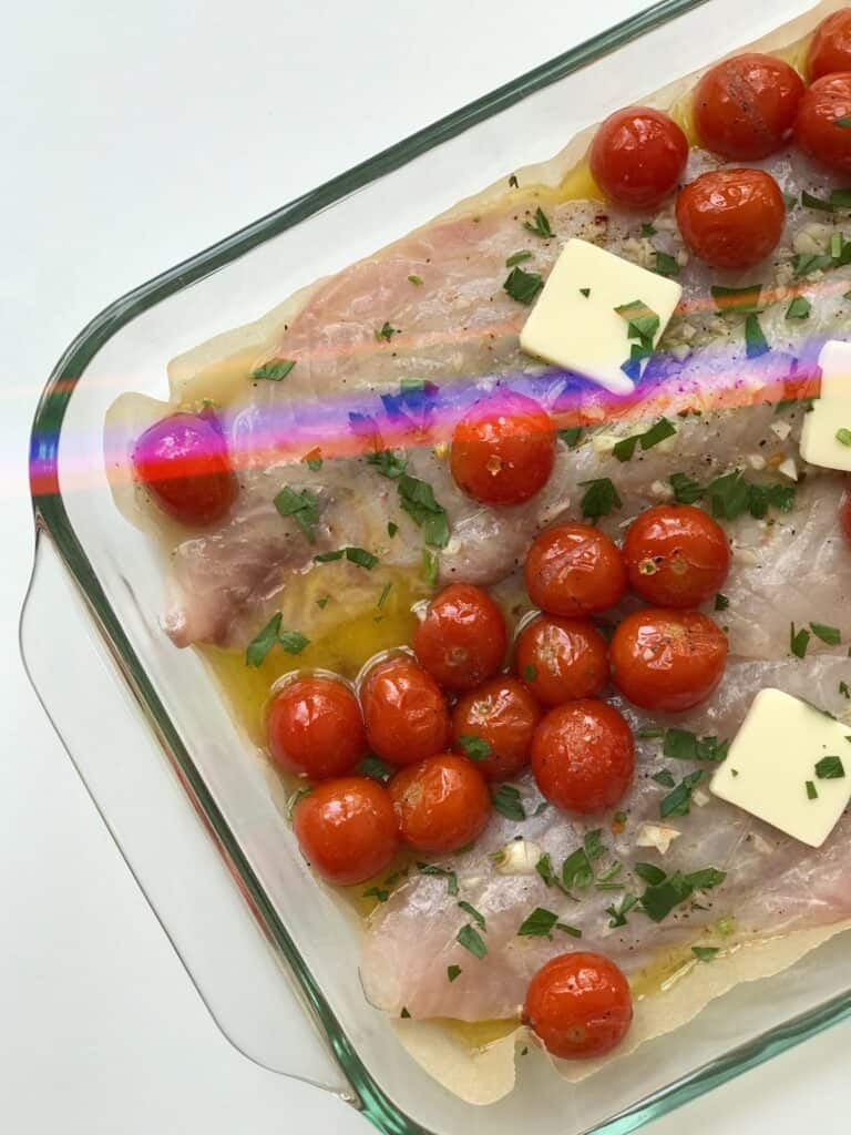 Baked Lemon Butter Rockfish Recipe for Meal Prep
