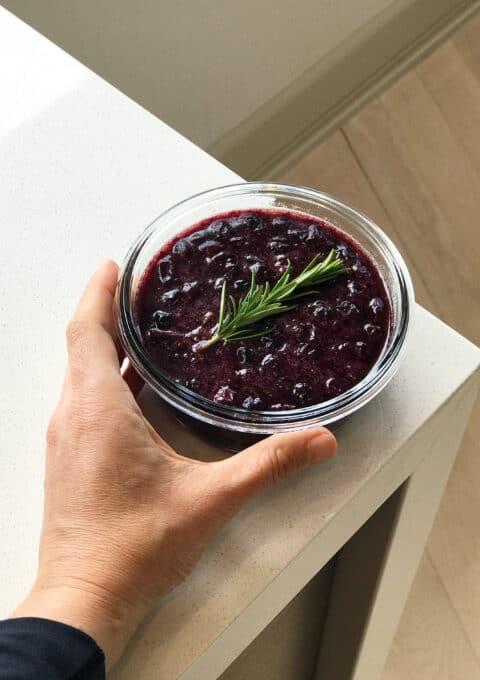 Healthy Blueberry Balsamic Sauce for Steak, Venison, Elk, Chicken, Turkey & Pork