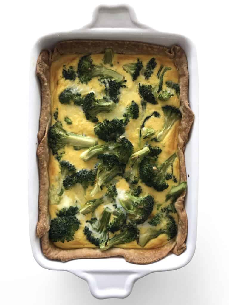 Healthy Broccoli Cheddar Quiche Recipe