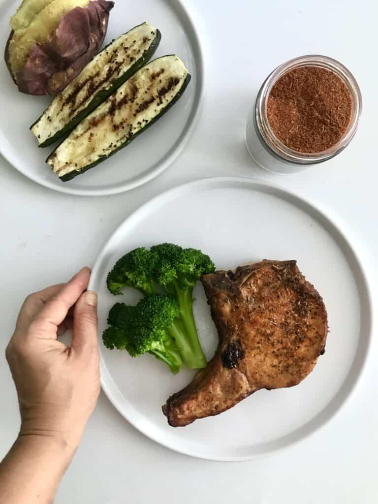 Healthy baked bone-in pork chop recipe